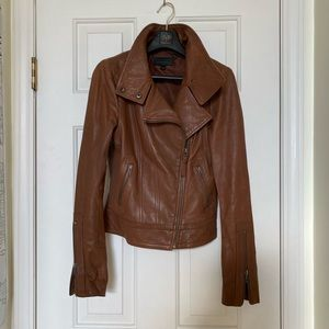 Mackage Kenya leather jacket cognac brown xs